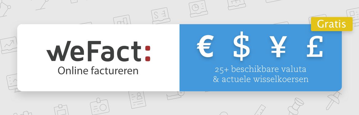 Factuur maken in een vreemde valuta in WeFact