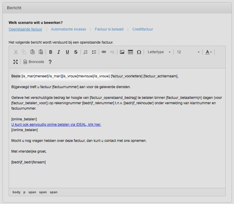 Aanhef in e-mail bericht