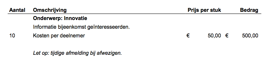 Eindresultaat in de PDF
