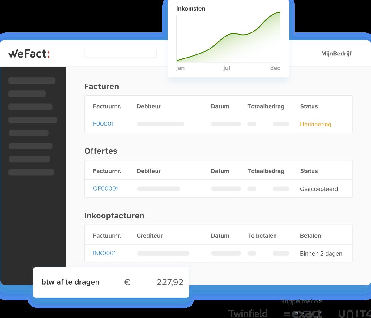 WeFact - Online administratie doen was nog nooit zo makkelijk